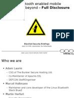 Bluetooth Hacking - Full Disclosure (Update) by Trifinite