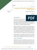 Educação Pública - A PESQUISA NO ENSINO FUNDAMENTAL_ FONTE PARA CONSTRUÇÃO DE CONHECIMENTO _
