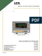 Indicadores de Pesagem 3101c 3102c 3103c 3104c 3107c Manual de Instalação e Operação
