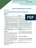 Compression Medicale Et Lymphoedeme Du MI