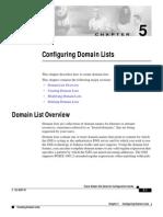 Cisco Configuring Domain Lists