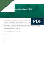 La Resolución Alternativa de Disputas (RAD)