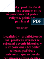 Entre la legalidad y la prohibición de las prácticas sexuales