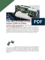 Cómo utilizar los módulos RF transmisor y receptor 315Mhz con Arduino