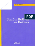MARX, Karl. Símon Bolivar Por Karl Marx