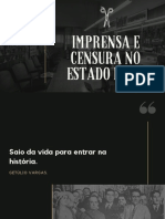 Imprensa e censura no estado novo slide