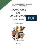 SOCIOLOGÍA DEL CONSUMIDOR 2019