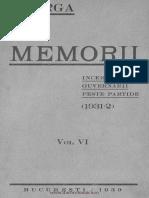 Iorga N. Memorii. Încercare Guvernării Peste Partide (1931-2). Vol. VI. 1939