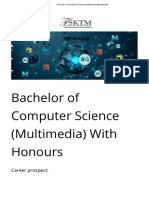 Bachelor of Computer Science (Multimedia) With Honours