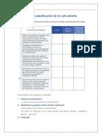 Guía de planificación de la carta abierta