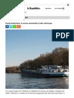 Parigi-Rotterdam La Nuova Autostrada è Tutta Sull