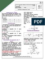 Material de Equações do Segundo Grau 28  05  2021