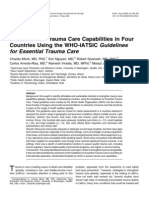 Review of trauma care in 4 countries