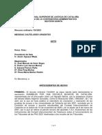 Mesures cautelaríssimes TSJC selectivitat 2021