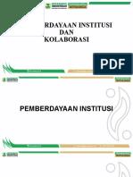 Pemberdayaan Institusi Dan kondisi