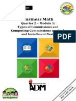 BusinessMath Q2 Mod1 Types of Commissions and Computing Commissions on Cash and Installment Basis1