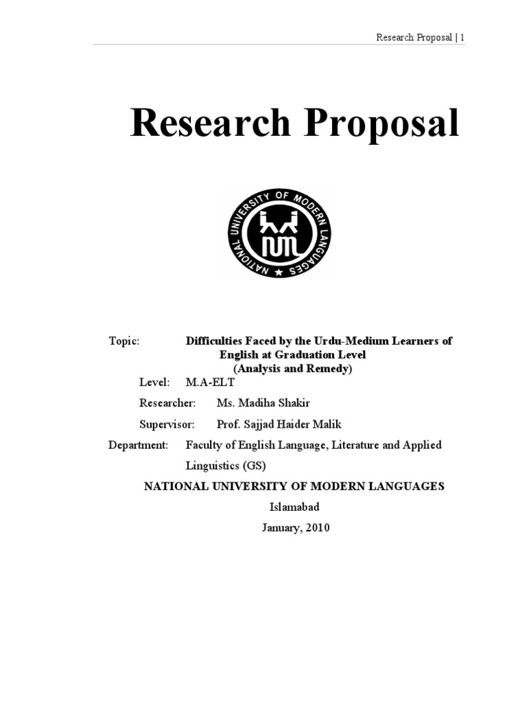 Master thesis research plan