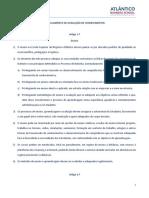 Regulamento de Avaliação de Conhecimentos 2020