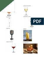 Tipos de Vasos o Copas
