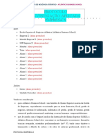 Protocolo Empresa X Casos de Estratégia Empresarial  2020-21