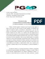 Fichamento 7 - Lauro