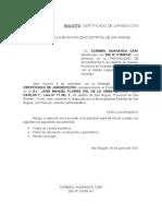 SOLICITUD DE CERTIFICADOS DE JURISDICCION