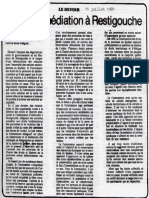 Déclaration de la Commission des droits de la personne dans Le Devoir du 11 juillet 1981