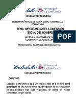 Primer Foro Virtual de Accion Social y Desarrollo rio