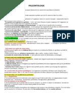 Paleontologie Resume Cour 1