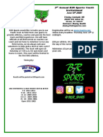 3rd Annual B3R Sports Youth Invitational Schedule