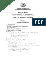 PROGRAMA DE DERECHO PENAL I - 2018