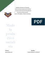 DIN III-TALLER2-MODELO PRODUCTIVO SOCIALISTA