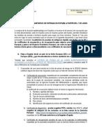 Nuevos Requisitos de Entrada en Espana a Partir Del 7 de Junio