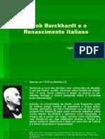 Jacob Burckhardt e o Renascimento Italiano