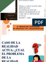 Diapositivas Del Docente Aplicalción Del Metodo de Emilio Durkheim a Un Caso Actual(2021)