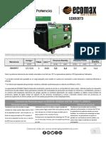 ficha tecnica generador 5.5 kva GD6500T3