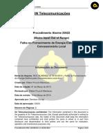 NOC ALM25622 v2 16-03-2014 - Falha no Fornecimento de Energia Elétrica pela Concessionária Local