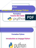 1- Introduction au langage Python - Yassine Ben Salah