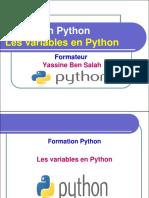 3- Les Variables en Python - Yassine Ben Salah