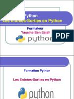 15- Les Entrées Sorties en Python - Yassine Ben Salah