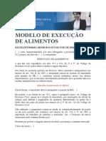 MODELO DE EXECUÇÃO ALIMENTOS