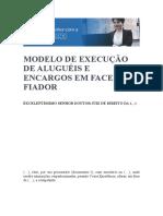 MODELO DE EXECUÇÃO DE ALUGUÉIS E ENCARGOS EM FACE DO FIADOR