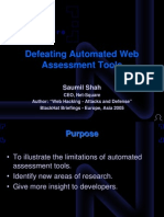 Defeating Automated Web Assessment Tools by Saumil Shah