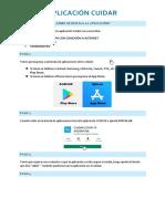 Instalación de la aplicación CUIDAR