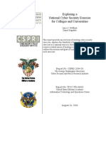 Exploring a National Cyber Security Exercise for Colleges and Universities (August 24, 2004) - 2004-08