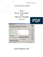 Firewall IDS and ECommerce - Web Server Assessment with Nikto and N-Stealth (August2004)