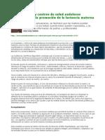clubdelateta REF 281 Los hospitales y centros de salud andaluces incrementaran la promocion de la LM 1 0