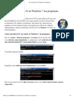 Cómo compartir Wi-Fi en Windows 7 sin programas