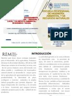 U III H PROYECTOS DE ACODICIOMIENRO DEL GOBIERNO NACIONAL – REGIONAL Y LOCAL Y SU IMPACTO AMBIENTAL-ECONOMICO Y SOCIAL