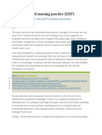 Evidence based nursing practice